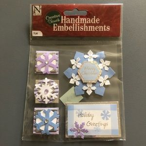 Holiday Christmas Snowflake Scrapbook Stickers NWT